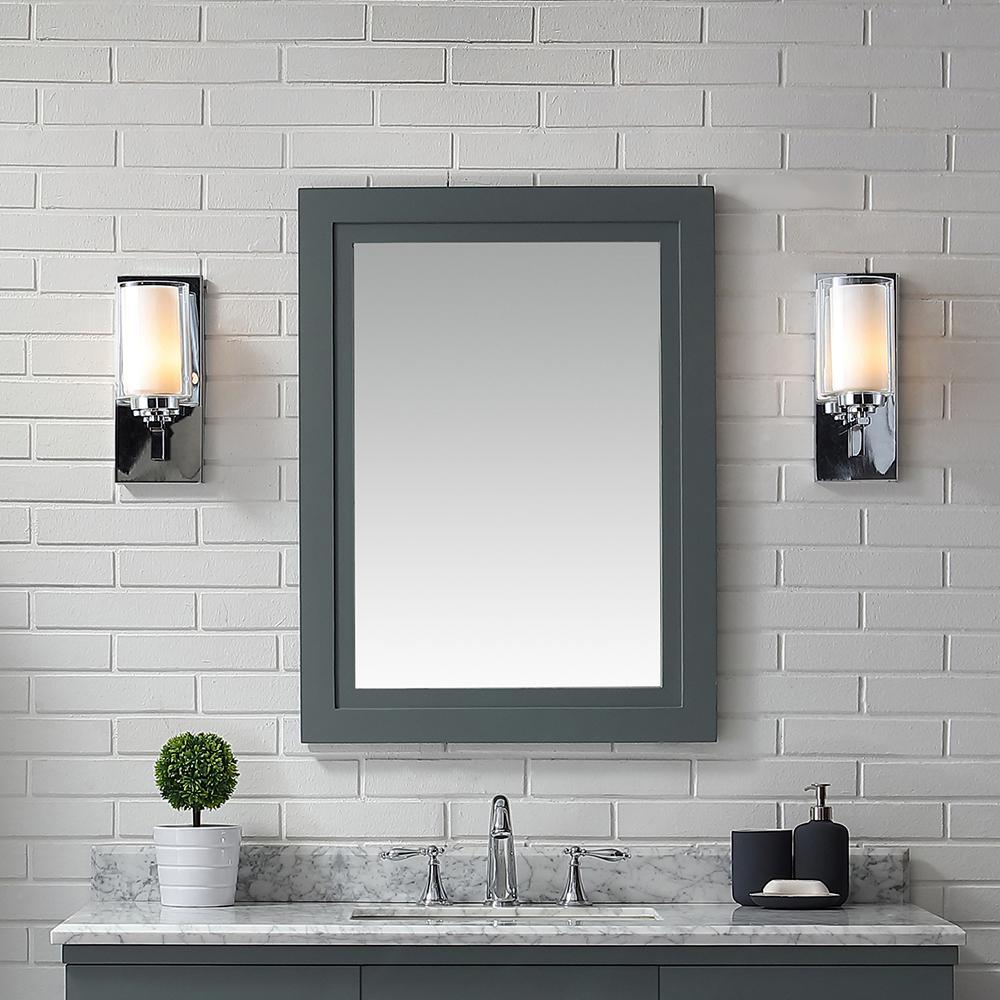 . Martha Stewart Living 24  x 32  Lynn Framed Mirror in School House