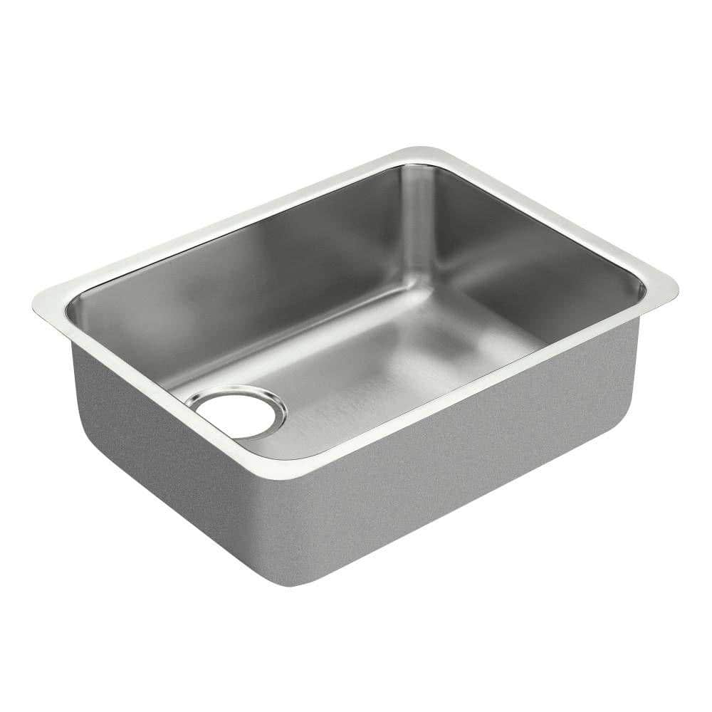 MOEN 1800 Series Undermount 18-Gauge Stainless Steel Kitchen Sinks: 23-inch Single Basin $92.31, 21-inch Single Bowl $174.72 + Free Shipping