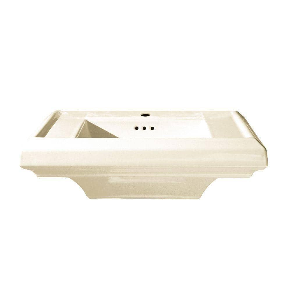 American Standard Town Square 6.5 in. Fireclay Pedestal Sink Basin in Linen $90.21 + Free Shipping