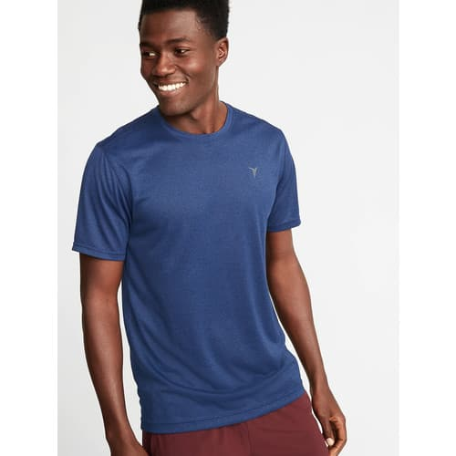 Old Navy Men's Go-Dry Cool Eco Performance Tee $4.90, Regular-Fit Built-In Flex Everyday Shirt $7.68, Twill 5-Pocket Pants $10.50 + Free Store Pickup