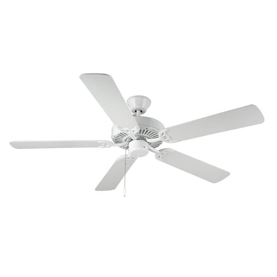 "Monte Carlo Indoor Ceiling Fans: 52"" HomeBuilder 5-Blade White $48.46,  5-Blade w/ Light Kit from $58.09 + Free Shipping"
