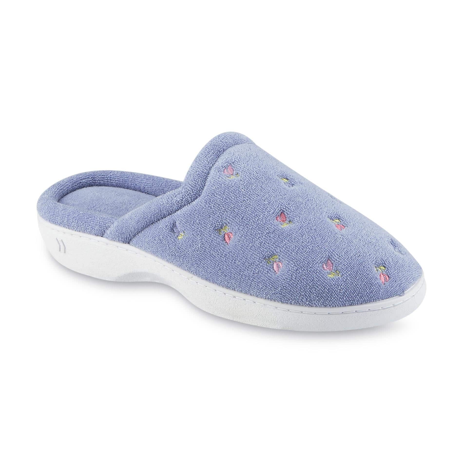Women's ISOTONER Slippers: Clog Slippers - Floral, Chukka Wide Width, PillowStep, Ryann & More $7.99 at Sears + Free Store Pickup **Not sold in CA