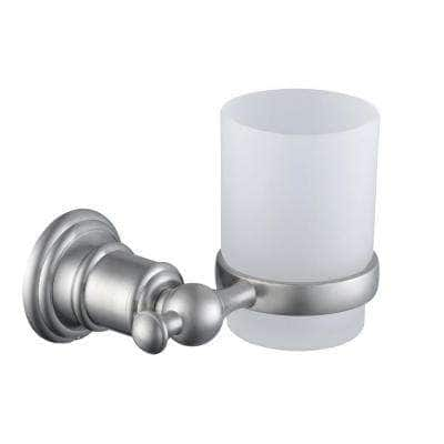 Glacier Bay Estates Wall-Mounted Tumbler Holder in Brushed Nickel $3.75 + Free Store Pickup and More