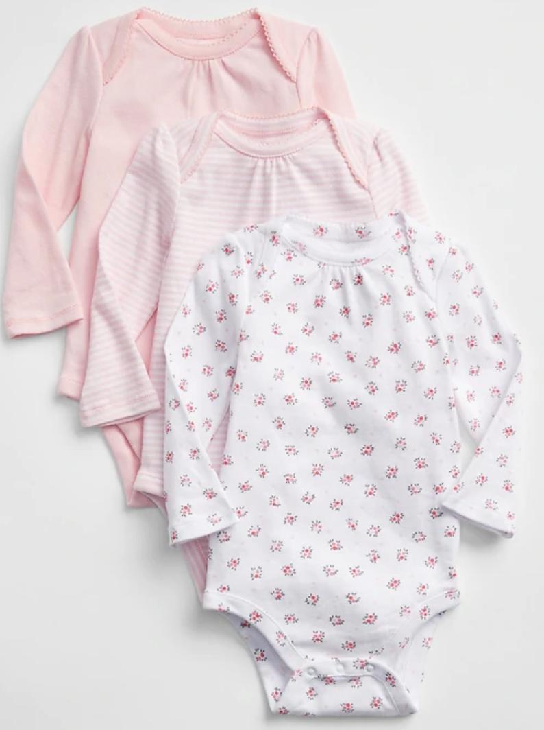 Gap Factory: 3-Pack Baby Print Bodysuit $10.62, Boys' Quilted Reversible Jacket $17, 2-Pack Print PJ Set $19.17 + Free S/H