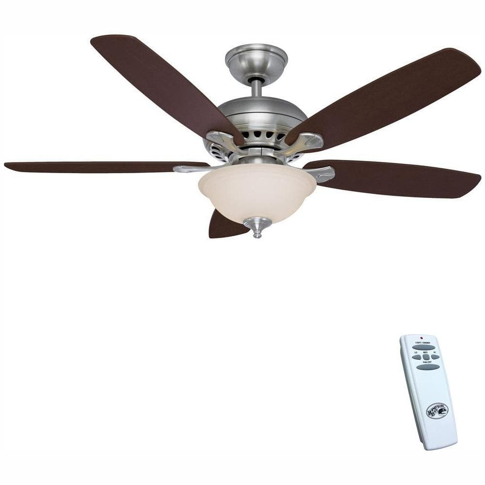 "Hampton Bay Indoor Ceiling Fans w/ LED Light Kits: 52"" Adonia $71.40, 54"" Algiers $100 & more + Free Shipping"