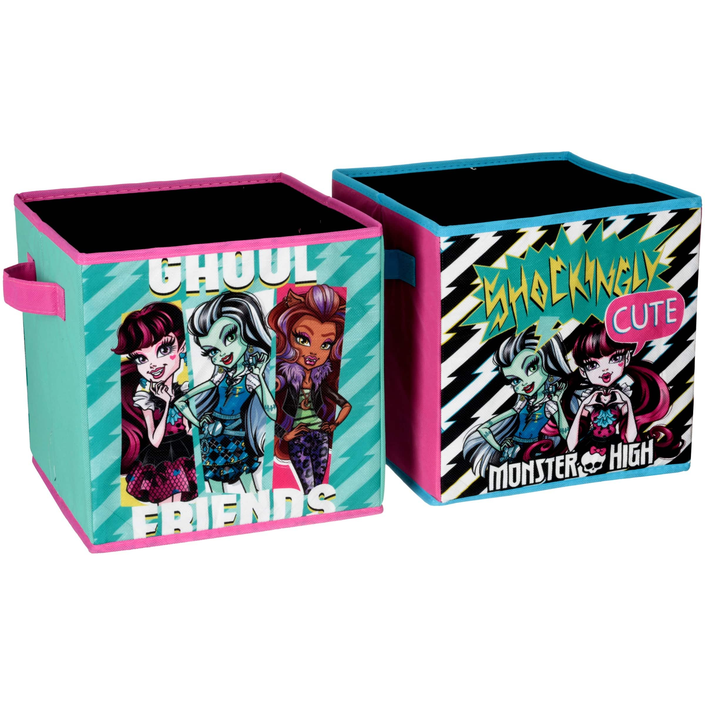 Set of 2 Monster High Kids Collapsible Storage Cubes $7 at Walmart + Free Store Pickup