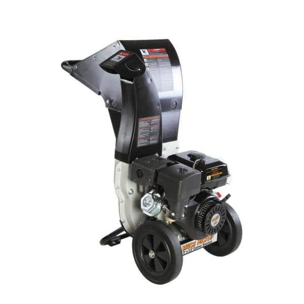Brush Master Gas Powered 445 cc Self-Feeding Wood Chipper-Shredder (5.25 in. x 3.75 in. Diameter) $1099 at Home Depot + Free Store Pickup