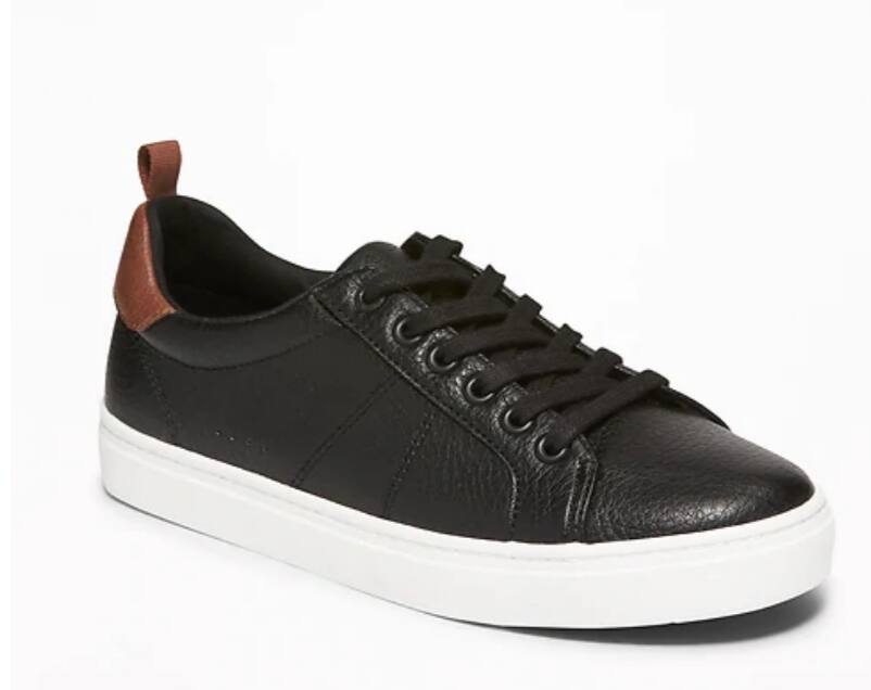 Old Navy Boys' Faux-Leather Sneakers $5.23, Men's Men's Slim-Fit Built-In Flex Everyday Oxford Shirt (Select Sizes) from $9.73 + Free Store Pickup
