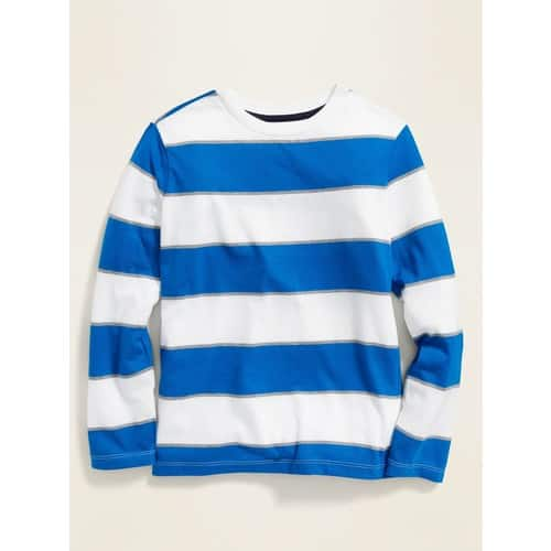 Old Navy: Boys' Softest Long-Sleeve Tees, Toddler Shoulder-Stripe Pique Polo $2.78, Pull-On Shorts $2.80 & More + Free S/H (no min)