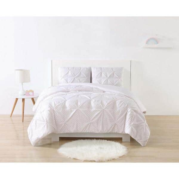 My World Anytime Dot Pinch Pleat Duvet Cover Sets:Twin XL from $17, Queen $22.94 at Home Depot + Free Store Pickup