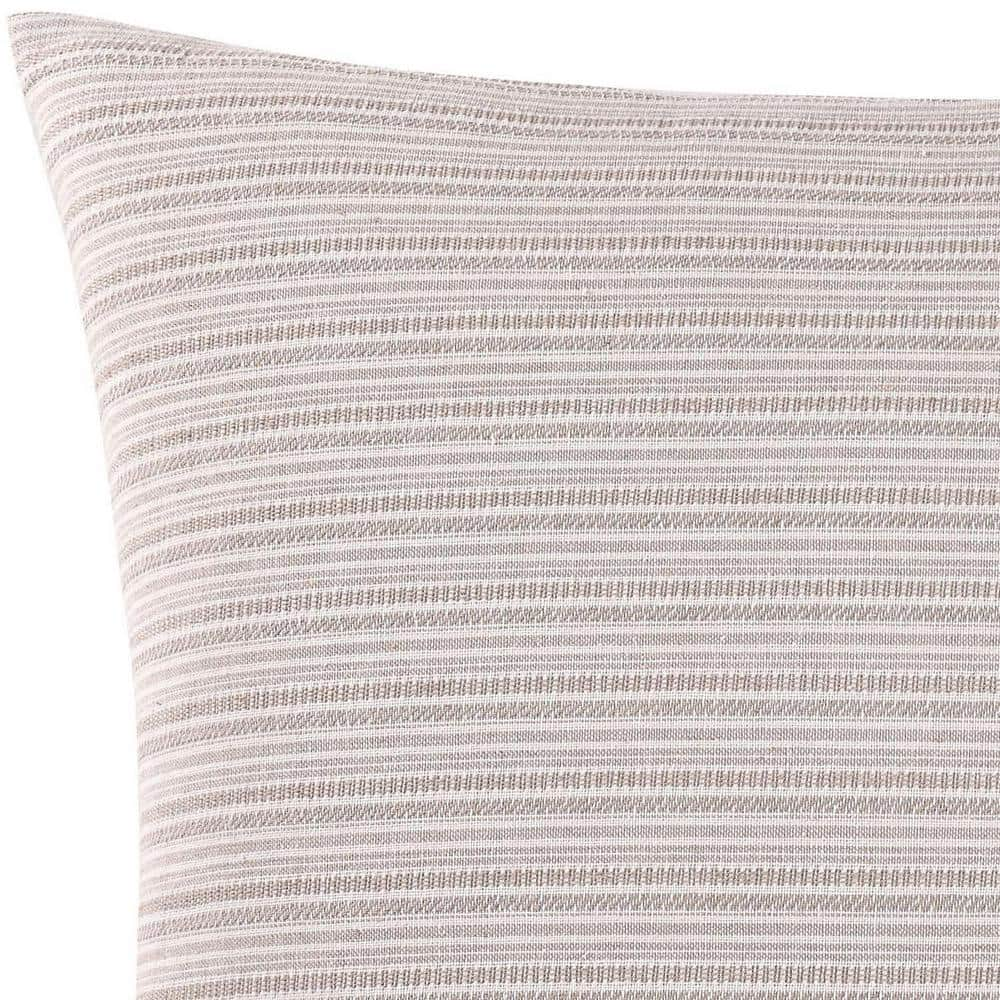 Oceanfront Resort Chambray Coast Euro Pillow Cover in Neutral $13.35 at Home Depot + Free Store Pickup