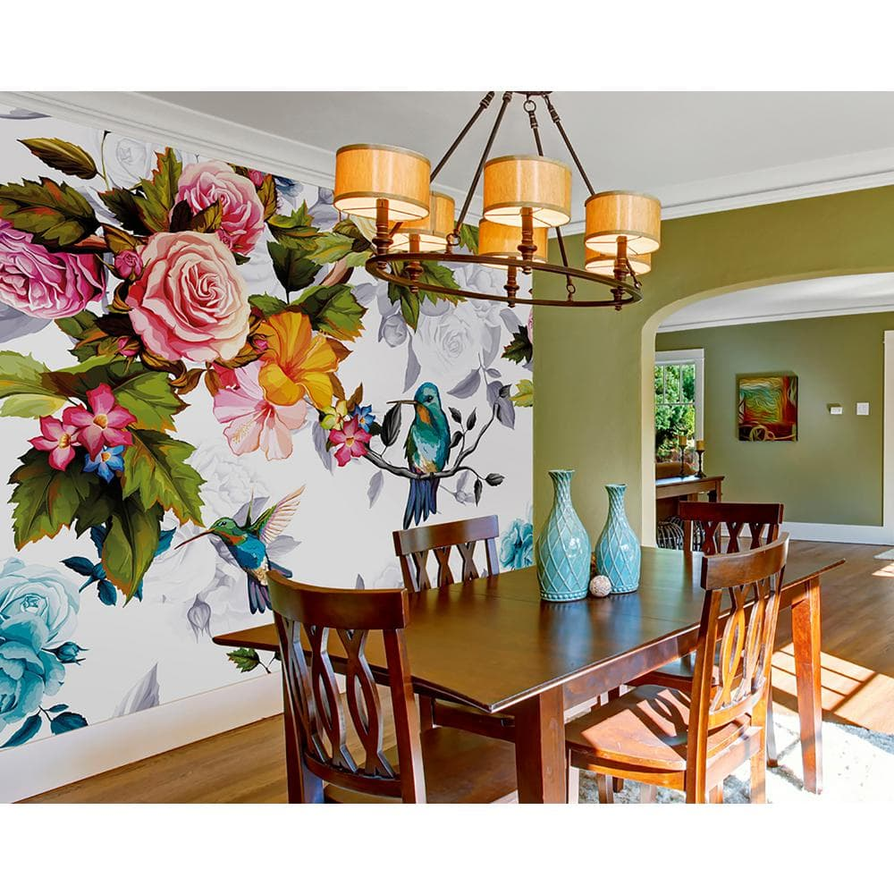 """Non-Pasted Wall Murals: OhPopsi Hummingbird Garden (9' 10"""" x 7' 10"""") $59.42 