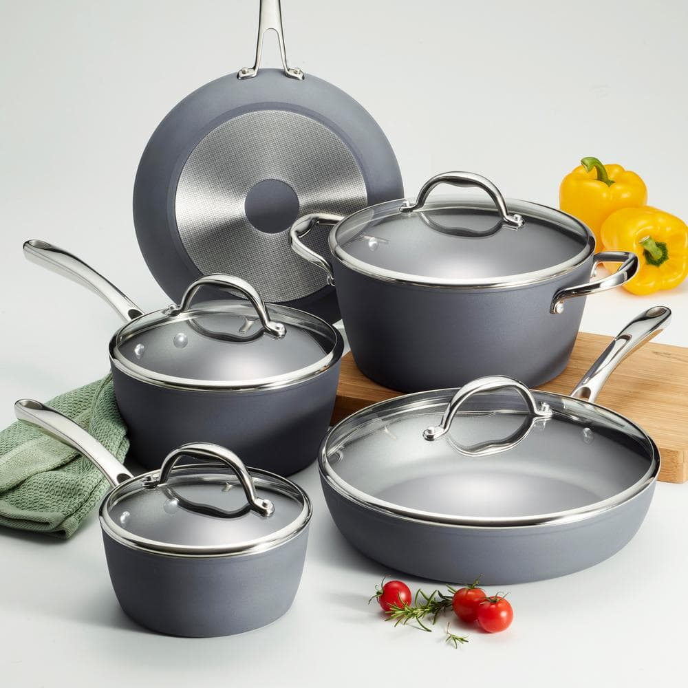 9-Piece Tramontina Gourmet Induction Aluminum Cookware Set in Slate Gray $109.88 + Free Shipping