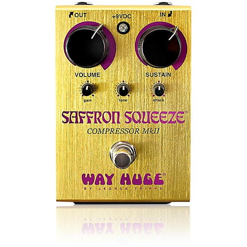 Way Huge Electronics Saffron Squeeze MkII Compressor Guitar Effects Pedal $80 + Free Shipping