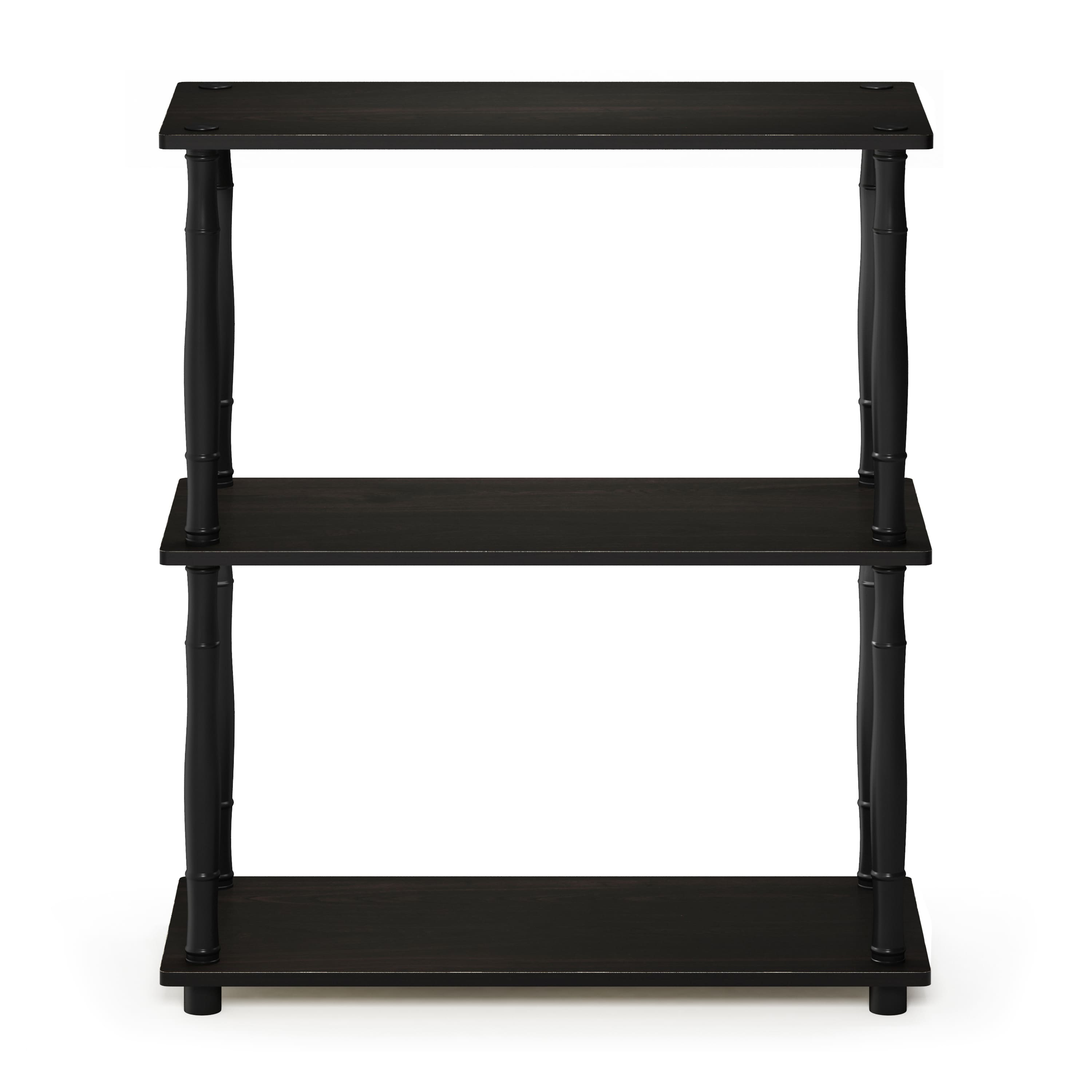 Furinno 3-Tier Turn-N-Tube Display Rack w/ Classic Tube (Espresso & Black) $17.64 at Walmart w/ Store Pickup Discount | $18.32 at Amazon/Home Depot
