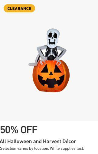 Lowe's Halloween clearance most in-stock items 75% off in-store and online