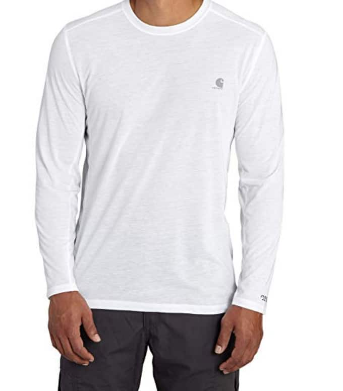 Men's Carhartt Force Extremes Long Sleeve T Shirt: White $13.49, Other Colors $15 + Free S/H for Prime