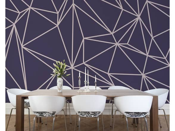 "Wall Murals: Wall Rogues Purple Vertex (94""x 118""), Komar Wild Bridge (145""x 100""), The Empire State Building (72""x 100"") $20 + Free S/H for Prime"