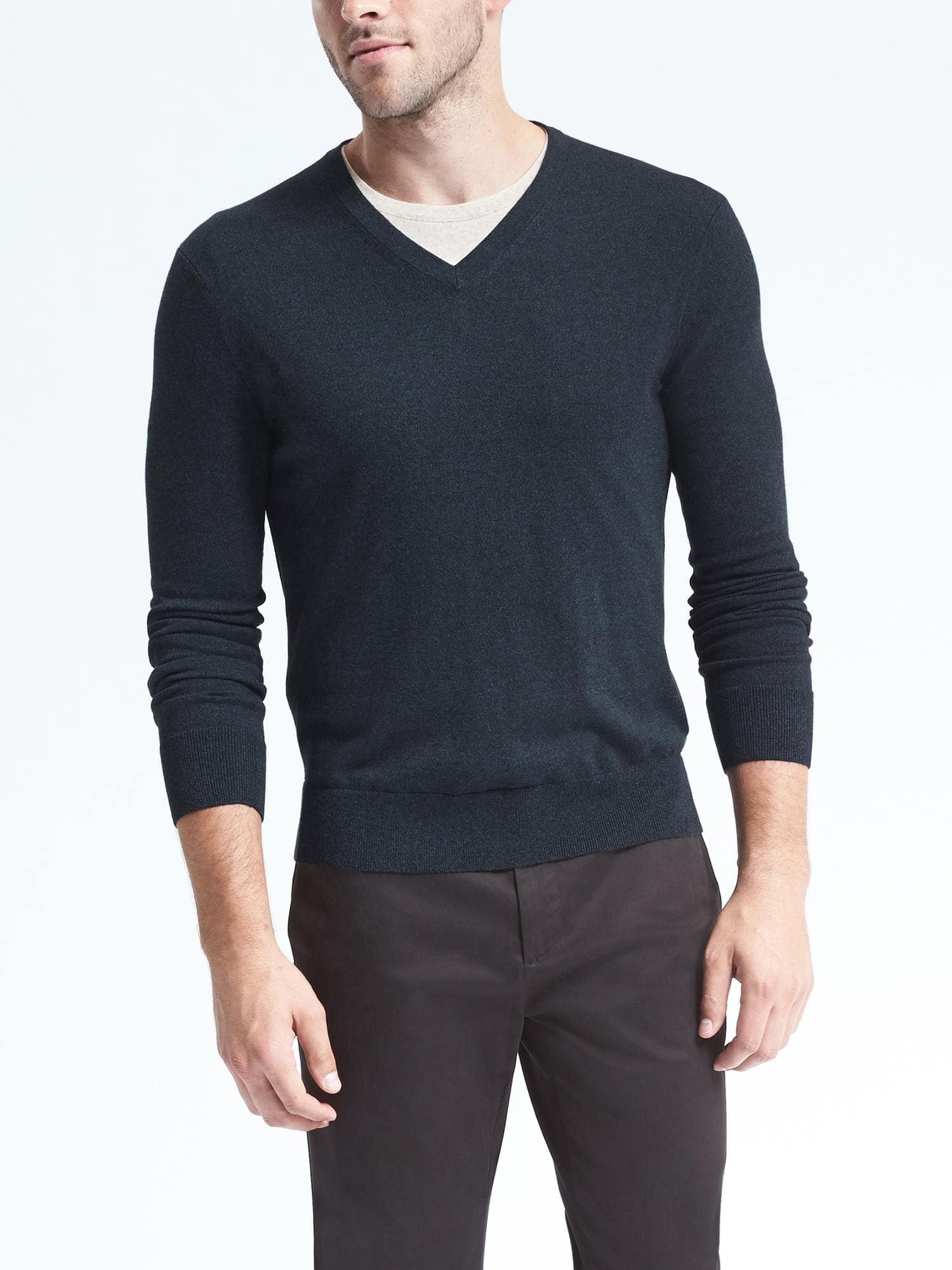 Banana Republic: Men's Slim Silk Cotton Cashmere Sweater - V-Neck $25.50, Crewneck $29.25 + Free Store Pickup/Free Shipping
