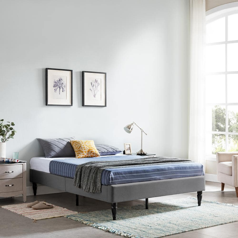 Noble House Queen Upholstered Bed Frames: Merribee, Charcoal Gray $74.36 + FS   Bradbury Contemporary, Blue $90.76 at Home Depot + Free Store Pickup