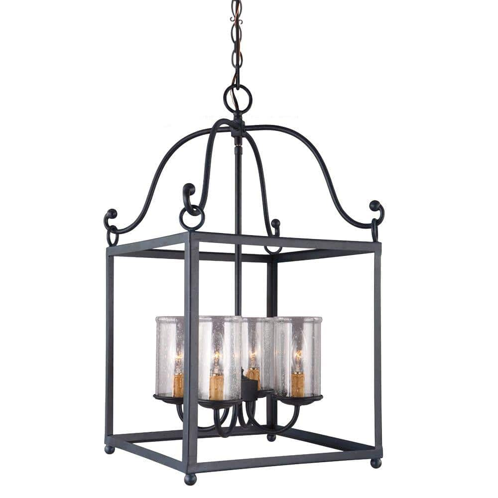 Feiss Declaration 4-Light Antique Forged Iron Pendant (F2907/4AF) $83.30 + Free Shipping