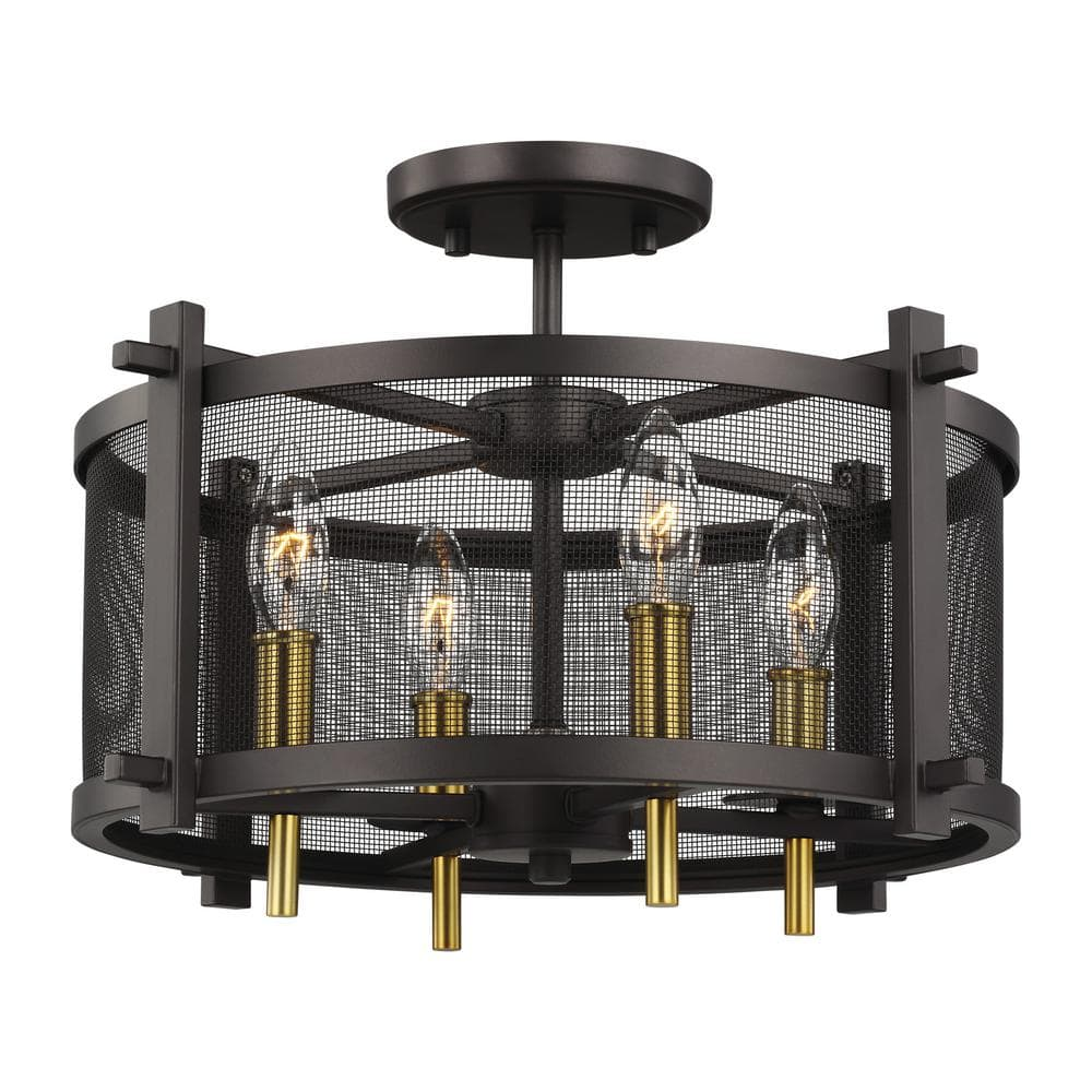 "Feiss Palmyra Outdoor Light Fixtures: 4-Light Semi-Flush (17"" Wide) $63.75, 3-Light Taper Candle Chandelier (11"" Wide) $76.50 + Free Shipping"