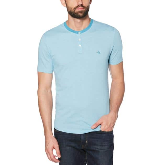 Original Penguin: Men's Jersey Stripe Tee, Jacquard Stripe Henley & More $7.79 + Free Shipping