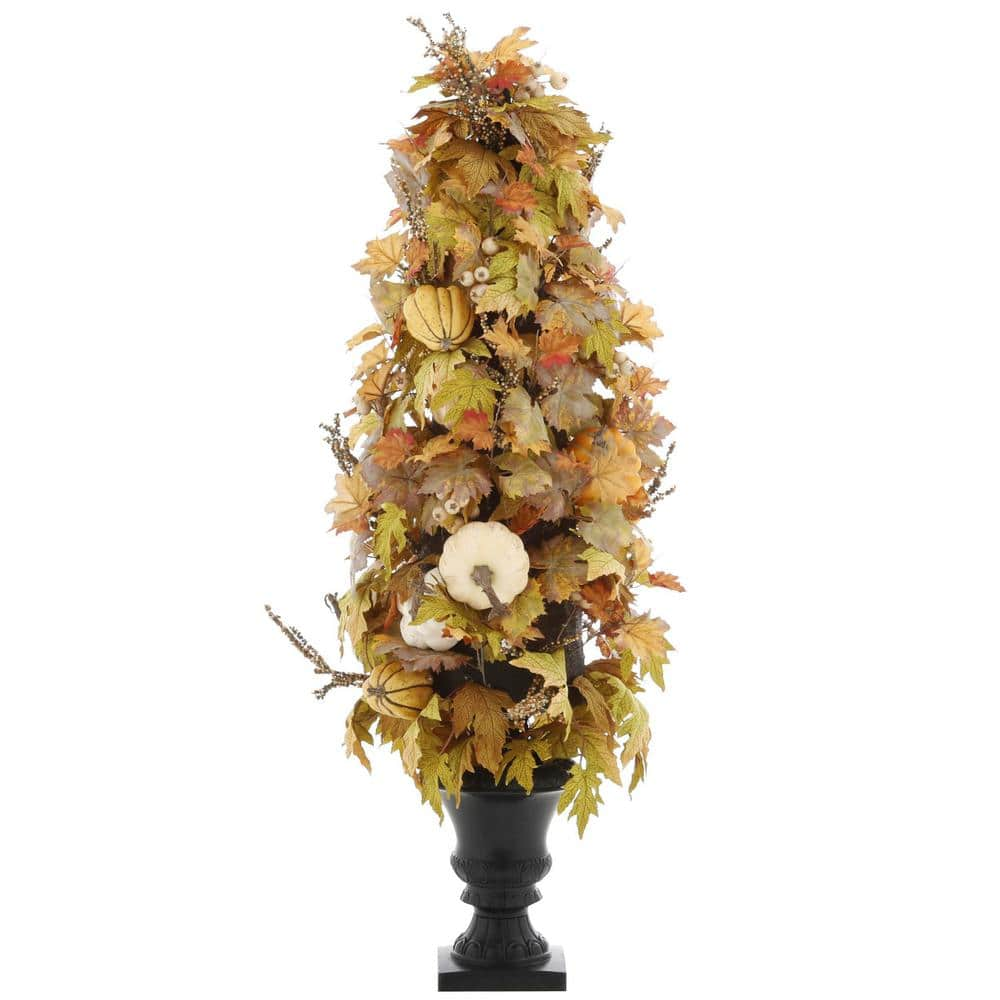 4' Artificial Maple Leaves Porch Tree w/ Resin Urn $37.25 at Home Depot + Free Shipping