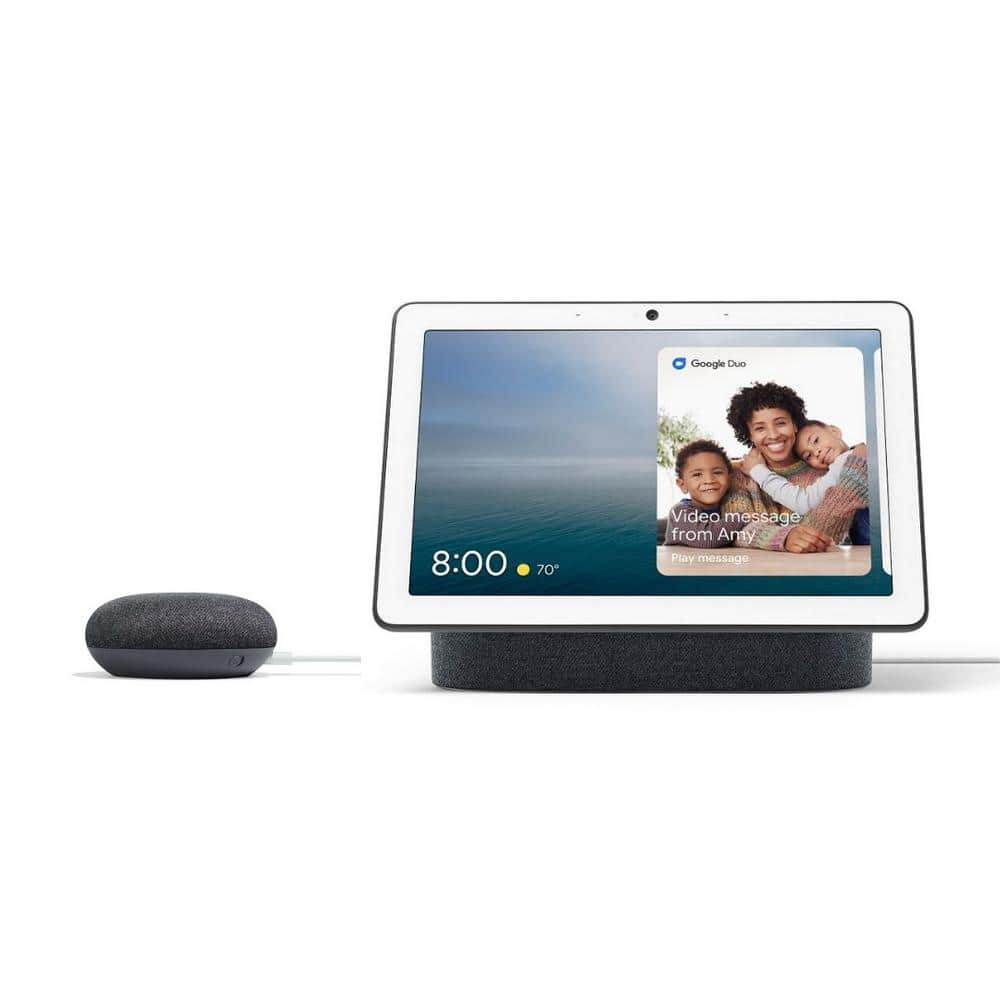 Google Nest Hub Max + Google Home Mini $208 at Home Depot + Free Shipping [avail to order, ETA ship 12/6   Ends 12/4]