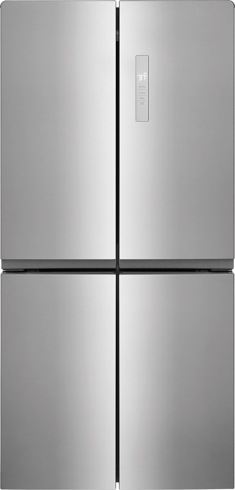 "Frigidaire 17.4 cu. ft. 4 Door French Door Counter Depth Refrigerator, Brushed Steel (33"" W x 29 1/8"" D) $689 AR + Free Shipping"