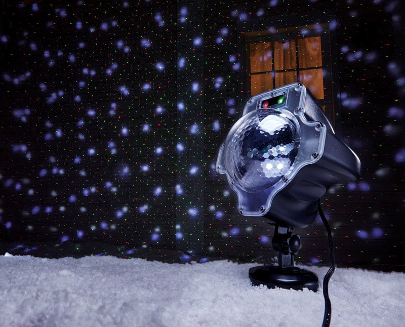 Night Stars Premium LED Snow Effect $9 | Slide Motion Projector w/ 12 Holiday Images $16 at Ace Hardware + Free Store Pickup