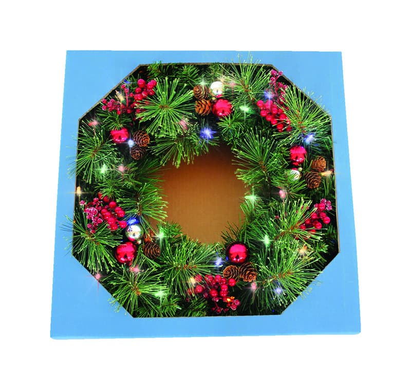 """Celebrations 26"""" Christmas Wreaths or 6' Garland Color Changing (3-Functions) w/ Built-In Timer $14.99 each 