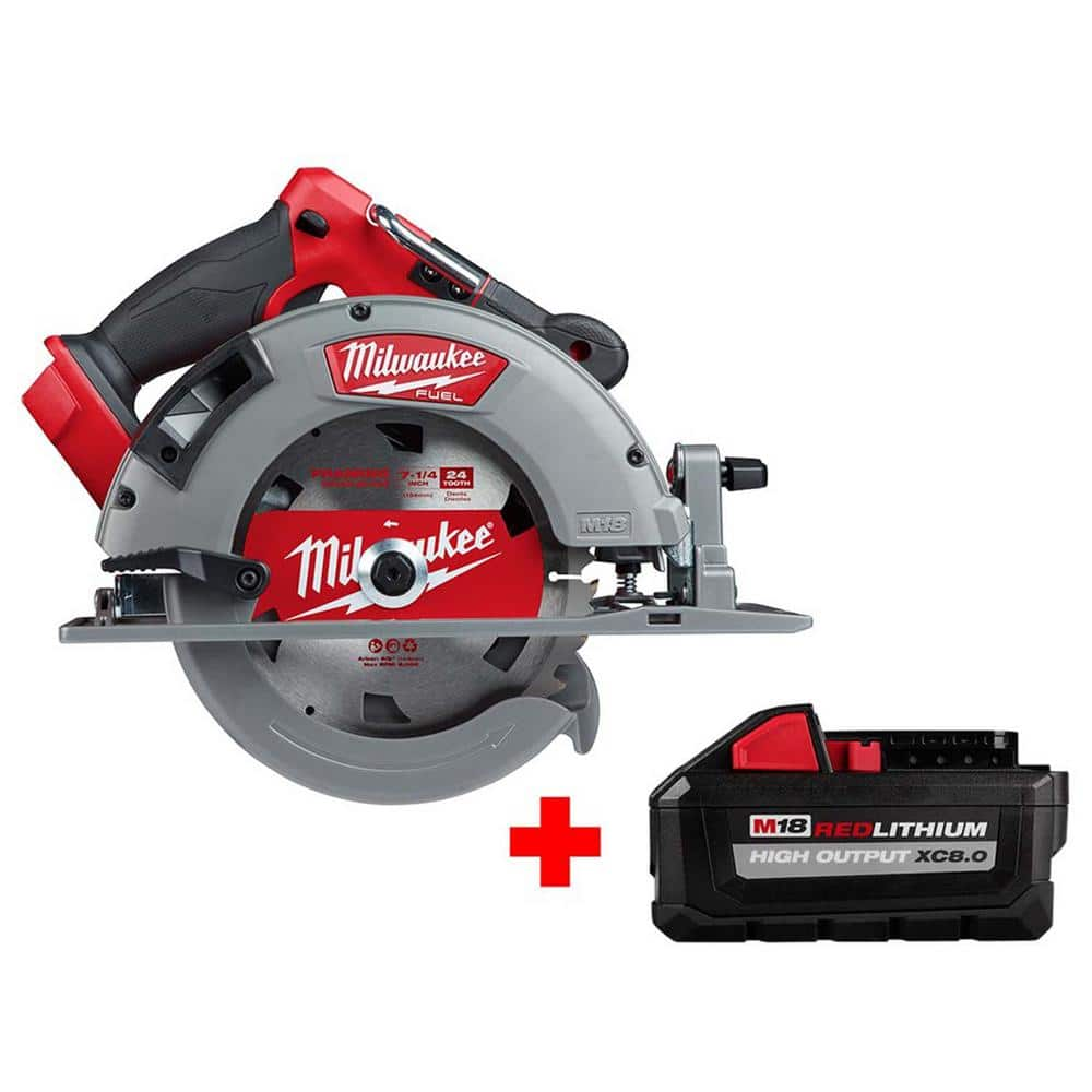 Milwaukee M18 Fuel 18-Volt Brushless Cordless Bare Tool & 8.0Ah Battery Bundles: Sawzall Reciprocating Saw $249, 7-1/4 in. Circular Saw $249 & more at Home Depot