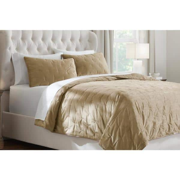 Home Decorators Collection 3-Piece Braelyn Velvet Quilt Set: Queen $28, King $30.52 at Home Depot + Free Store Pickup