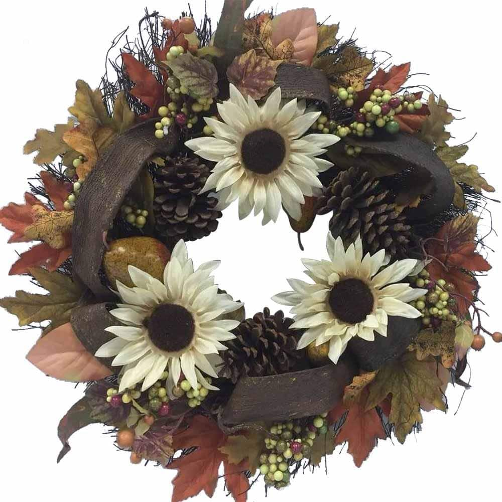 24 in. Home Accents Holiday Fall Grapevine Wreath $10 at Home Depot + Free Store Pickup