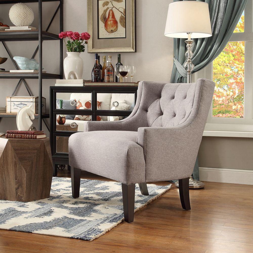 Home Sullivan Lexington Linen Barrel Arm Chair $142.56 at Home Depot + Free Store Pickup