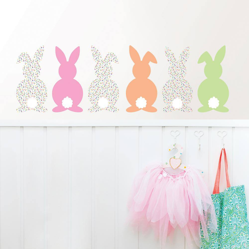 Wallpops Bunch of Bunnies Wall Art Kit $9, White Saddle Up $15.50 at Home Depot + Free Store Pickup