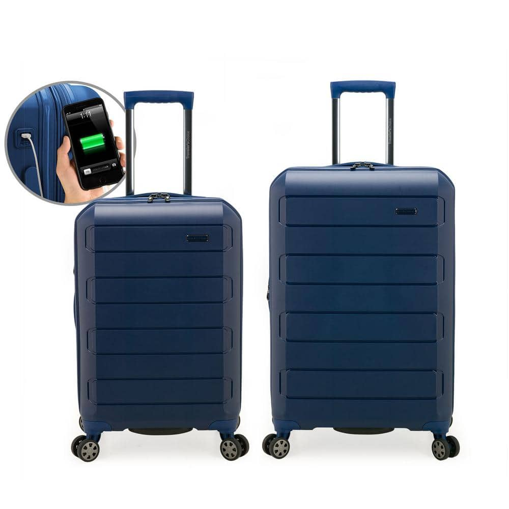 2-Piece Traveler's Club Pagosa Polypropylene Expandable Hardshell Spinner Set (22-inch & 26-inch) from $118.71 at Home Depot + Free Shipping