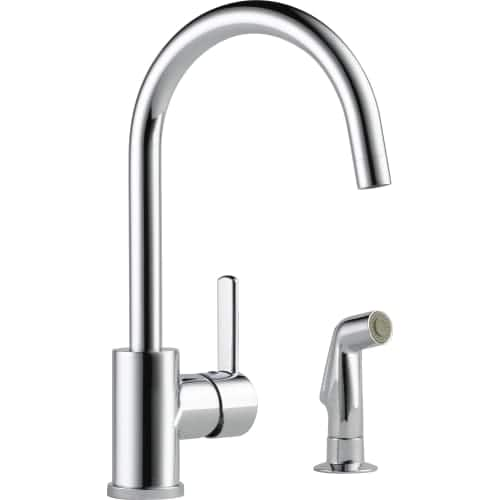 Peerless Precept Single Handle Kitchen Faucet with Side Sprayer in Chrome $54.99 + Free Shipping