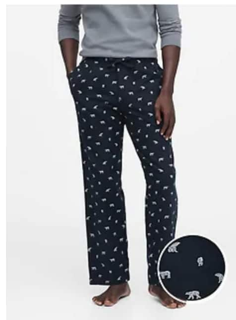Banana Republic: Extra 60% Off Sale Styles - Men's Flannel PJ Pants $12, Poplin Shirts $14, Mason Athletic Chino $31.20, Women's V-Neck Jumpsuit $15.60 + FS on $20+