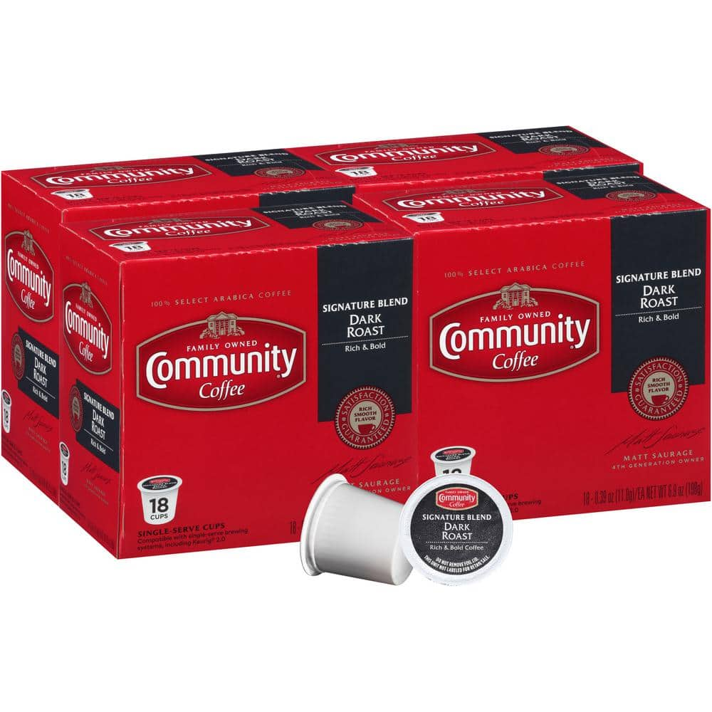 Community Coffee Single Serve K-Cups: 72-Count $22.79, 144-Count $41.74 w/ S&S at Home Depot + Free S/H