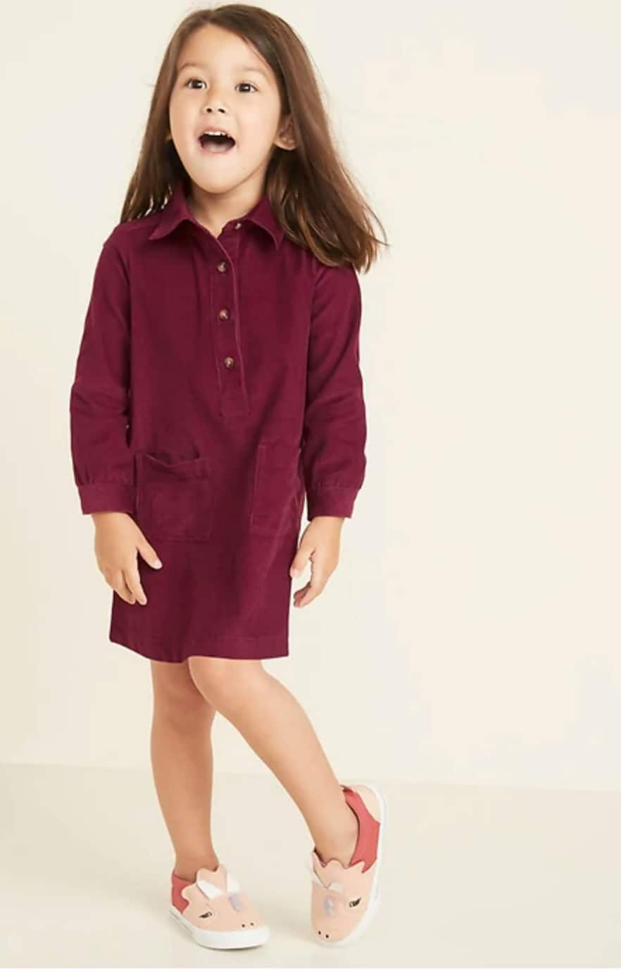 Old Navy Extra 40% Off Kids' & Toddlers Clearance: Toddler Shirts $4.80, Dresses