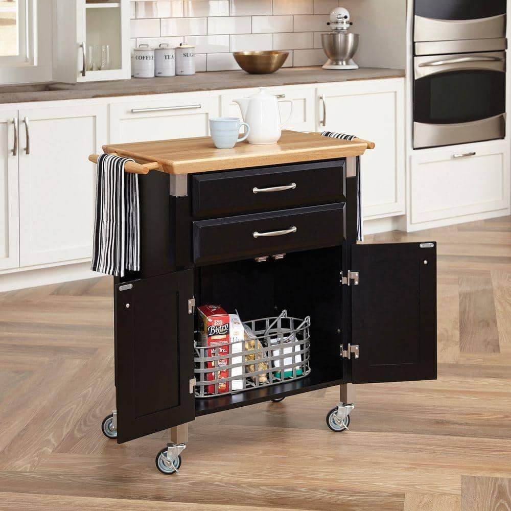 Home Styles Dolly Madison Prep & Serve 2-Cabinet, 2-Drawer Black Kitchen Cart $112, StyleWell 2-Drawer Glenville Kitchen Cart $120 + Free Shipping