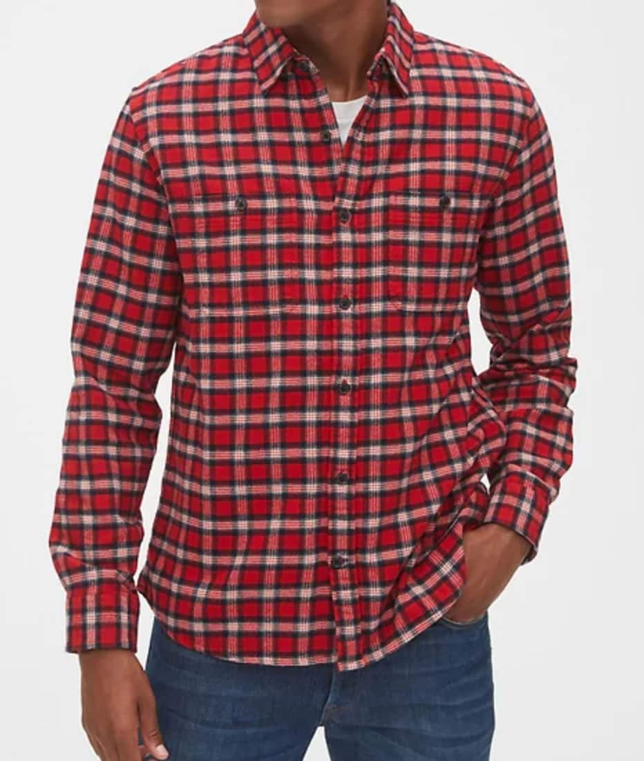 Gap Extra 60% Off Markdowns: Men's ColdControl Puffer Jacket $26, Flannel Shirts