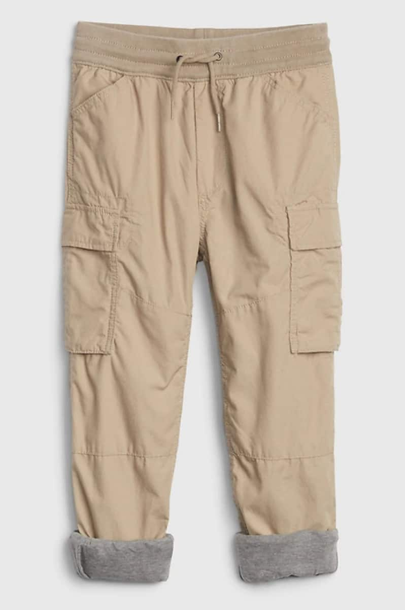 Gap.com: Boys' Jersey-Lined Joggers: Cargo $8.98, Hybrid $9.58 + FS on $50+ [before discounts]