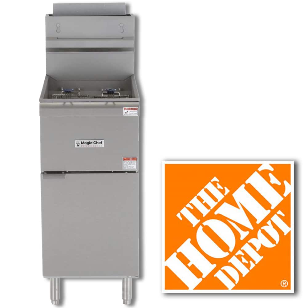 Magic Chef Commercial 50 lb. Gas Fryer in Stainless Steel $854 + Free Delivery