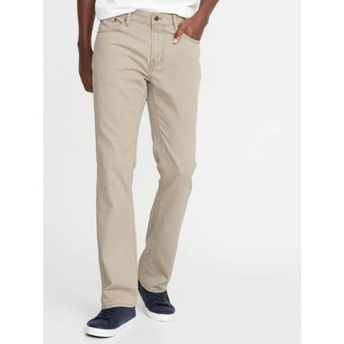 Old Navy: Men's Five-Pocket Twill Pants $12 [Use Super Cash for additional savings] + Free Store Pickup
