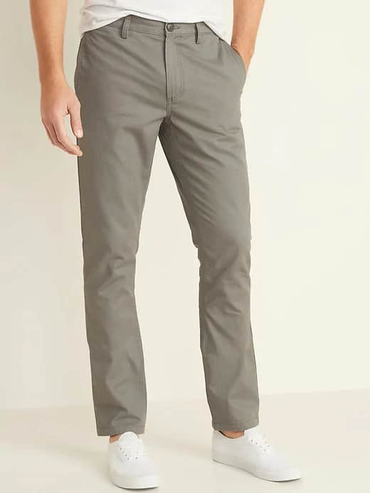 Old Navy Men's Built-In Flex Twill Joggers or Slim Uniform Khakis