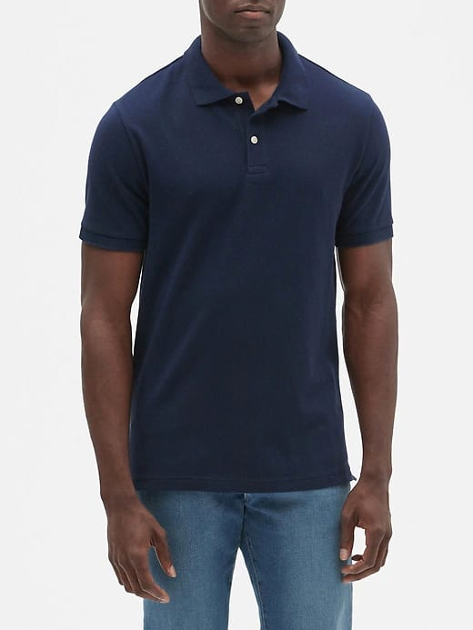 Gap Factory: Men's V-Neck Sweater $8.80, Pique Polo or Thermal T-Shirt