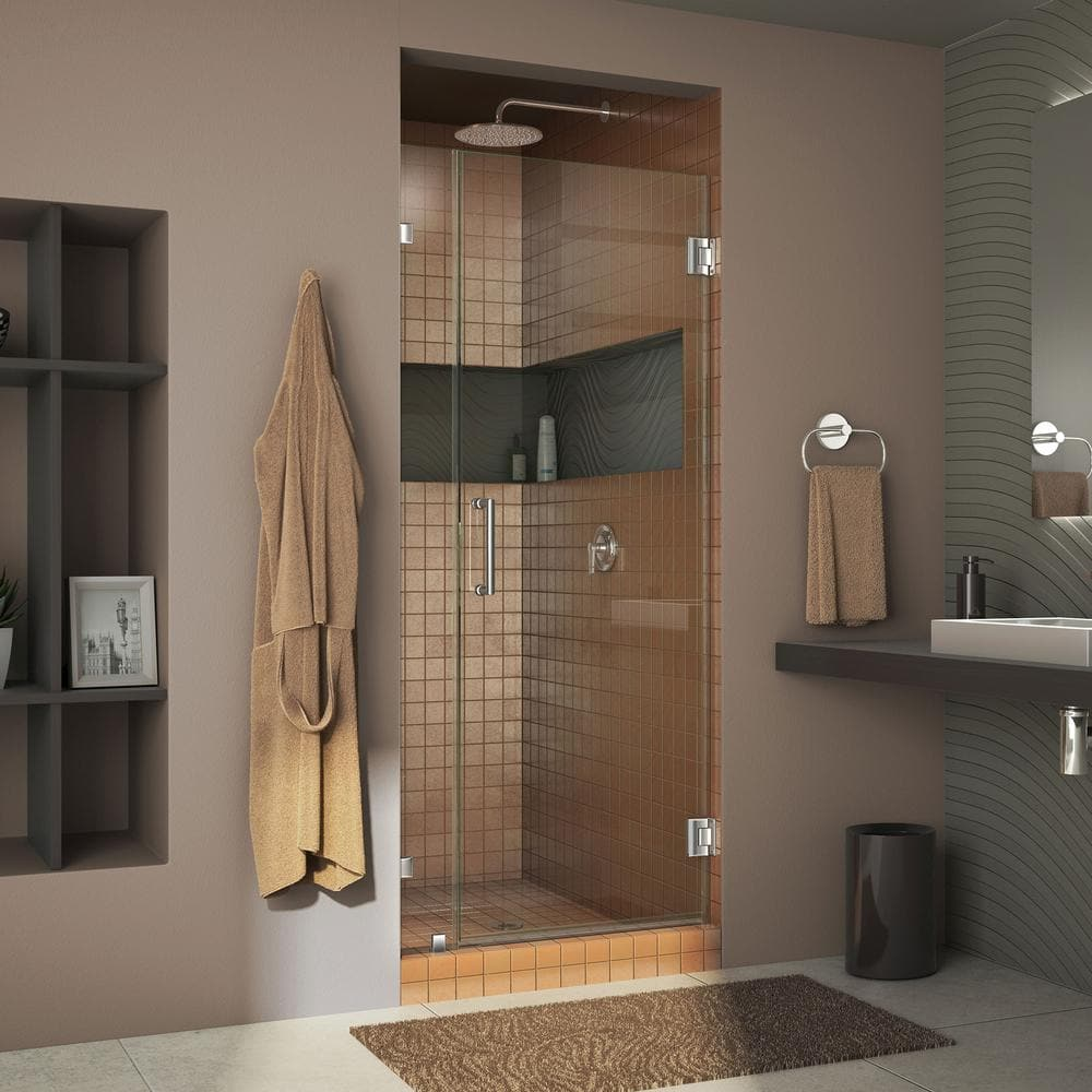 """DreamLine Unidoor Lux 34"""" x 72"""" Frameless Hinged Shower Doors from $274.12 at Home Depot + Free Store Pickup"""